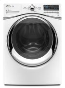White Whirlpool® ENERGY STAR® Qualified Duet® 5.0 cu. ft. I.E.C. Equivalent* Front Load Washer Product Image