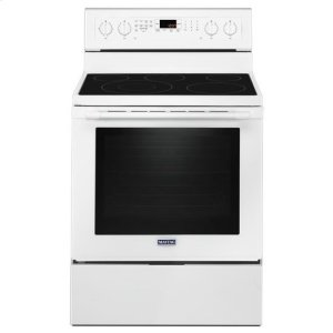 Maytag® 30-Inch Wide Electric Range With True Convection And Power Preheat - 6.4 Cu. Ft. - White - WHITE