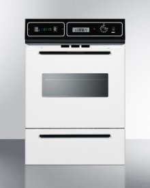 """White Gas Wall Oven With Electronic Ignition, Digital Clock/timer, and Oven Window; for Cutouts 22 3/8"""" Wide By 34 1/8"""" High"""