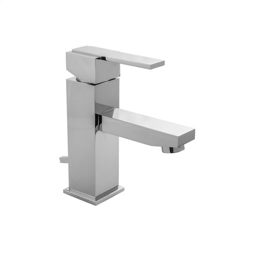 Satin Brass - CUBIX® Single Hole Faucet with Fully Polished & Plated Pop-Up Drain