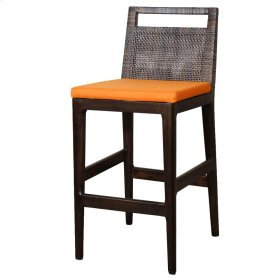 Wilshire Rattan Counter Stool, Sky Black (Cushion Sold Separately)