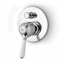 Built-in single lever bath shower mixer with diverter.