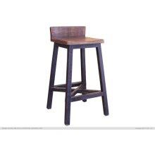 "30"" Stool Wooden Seat, Black"