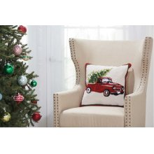 """Home for the Holiday Yx105 Multicolor 18"""" X 18"""" Throw Pillows"""