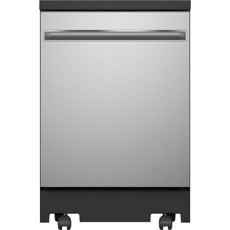 """®24"""" Stainless Steel Interior Portable Dishwasher with Sanitize Cycle"""