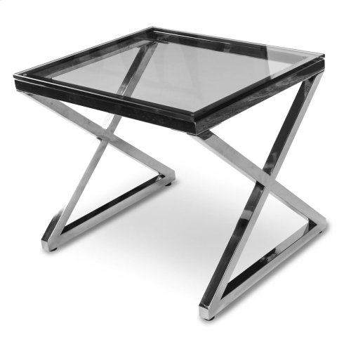 Stacy End Table W/stainless Steel Legs