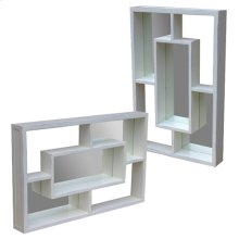 Sanibel Mirrored Wall Shelf