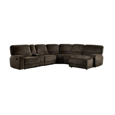 6-Piece Modular Reclining Sectional with Right Chaise