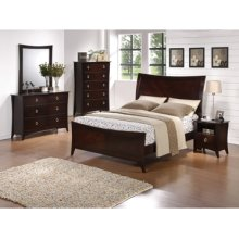 "Forte ""Cherry"" 5-Pc. Queen Bedroom Set - Bed, Dresser, Mirror, Nightstand, Chest"