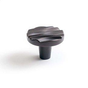 Oil Rubbed Bronze Wave Small Round Knob 1 1/2 Inch