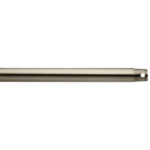 """Dual Threaded 36"""" Downrod Brushed Stainless Steel"""