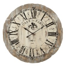 "Distressed ""Cafe de Paris"" Wall Clock"