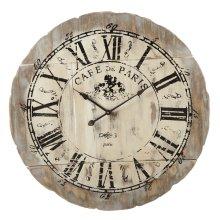 "Distressed ""Cafe de Paris"" Wall Clock"