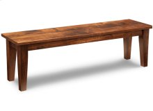 """Glengarry 60"""" Leg Bench with Wood Seat"""