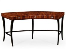 Art Deco Curved Desk for Drawers and Stainless Steel Handles (Satin)