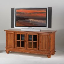 Console with Glass Doors