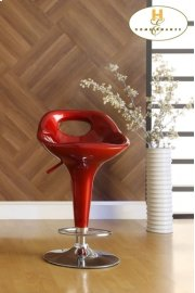 Red Airlift Swivel Stool Product Image