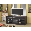 Contemporary Cappuccino TV Console With Connect-it Power Drawer Product Image