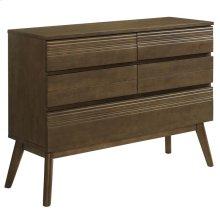 Everly Wood Dresser in Walnut
