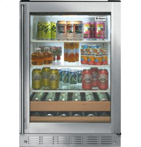 "24"" Stainless Steel Beverage Center"