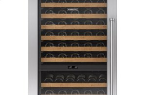 "Integrated Stainless Steel 30"" Tall Wine Storage Door Panel with Pro Handle - Left Hinge"