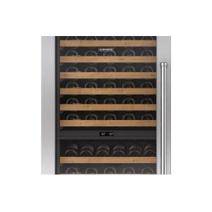 """Integrated Stainless Steel 30"""" Tall Wine Storage Door Panel with Pro Handle - Left Hinge"""