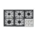 "DacorHeritage 36"" Dual Gas Cooktop, Natural Gas"