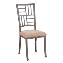 """Trent """"Light Textured Bronze"""" Bistro Dining Side Chair, 19-1/8"""" Seat Height - pack 1"""