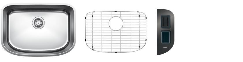 Blanco One Medium Bowl Kit 2 - Safety - Satin Polished Finish