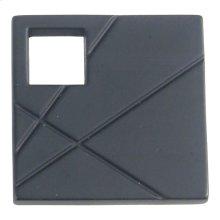 Modernist Right Square Knob 1 1/2 Inch - Matte Black