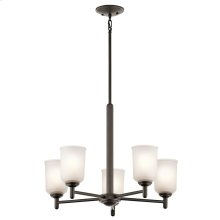 Shailene Collection Shailene 5 Light Chandelier - Olde Bronze OZ