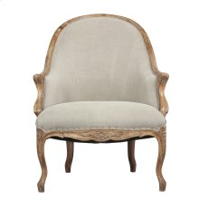 Leslie Salon Chair, Rock Gray