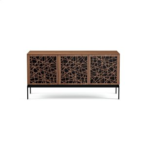 Bdi FurnitureTriple Wide Cabinet W Console Base in Ricochet Doors Natural Walnut