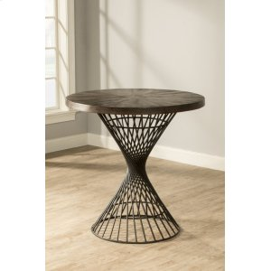 Hillsdale FurnitureKanister Round Counter-height Dining Table - Dark Pewter With Weathered Walnut Top