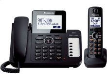 Expandable Corded/Cordless Phone with 1 Corded Handset and 1 Cordless Handsets