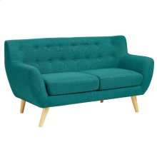 Remark Upholstered Fabric Loveseat in Teal