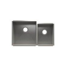 """UrbanEdge® 003638 - undermount stainless steel Kitchen sink , 18"""" × 18"""" × 10""""  12"""" × 16"""" × 8"""""""