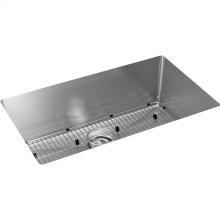 """Elkay Crosstown 16 Gauge Stainless Steel, 30-1/2"""" x 18-1/2"""" x 10"""" Single Bowl Undermount Sink Kit"""