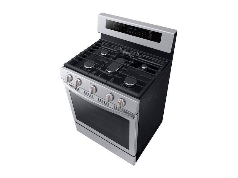 5.8 cu. ft. Freestanding Gas Range with True Convection in Stainless Steel Photo #4