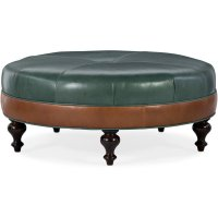 Bradington Young XL Well-Rounded Round Ottoman 806-RD Product Image
