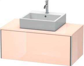 Vanity Unit For Console Wall-mounted, Apricot Pearl High Gloss Lacquer