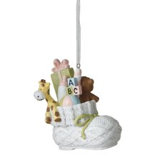 Filled Baby Bootie Ornament.