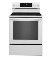 FLOOR MODEL - KitchenAid® 30-Inch 5-Element Electric Freestanding Range, Architect® Series II - White