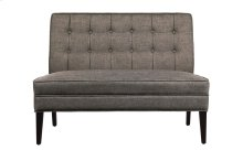 Settee Love Seat, Brown Fabric
