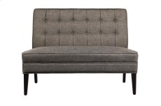Settee Love Seat, Brown Fabric Product Image