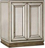 Sanctuary Two-Door Mirrored Nightstand - Visage Product Image
