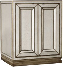 Sanctuary Two-Door Mirrored Nightstand - Visage