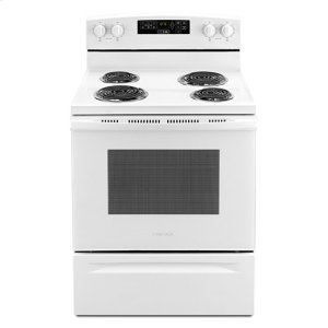 Amana® 30-inch Electric Range with Self-Clean Option - White - WHITE