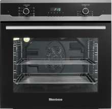 "24"" Built in Wall Oven Single, black, full glass door moon design"