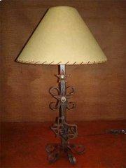 Texas Map Metal Lamp Product Image